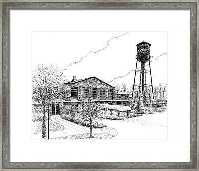 Framed Print featuring the drawing The Factory In Franklin Tennessee by Janet King