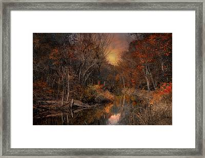 The Fading Glow Of Fall Framed Print