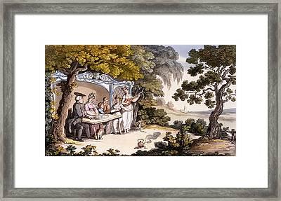 The Fair Penitent, From Ackermanns Framed Print