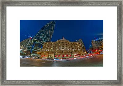 The Fairmont Copley Hotel Framed Print