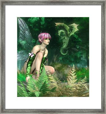 The Fairy And The Dragon Framed Print by Melissa Krauss