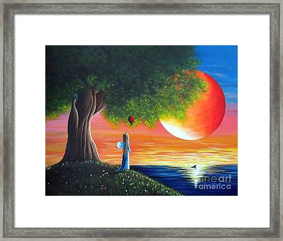 The Fairy And The Orca By Shawna Erback Framed Print by Shawna Erback