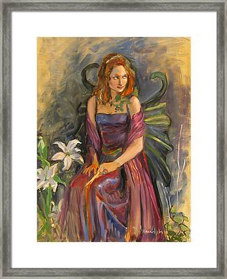 The Fairy Framed Print by Dominique Amendola