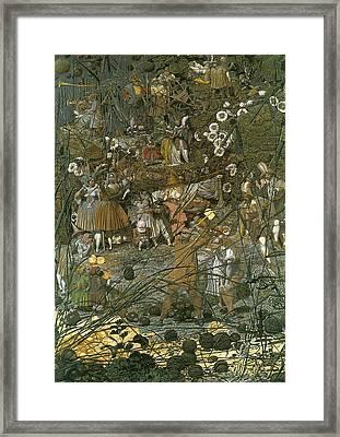 The Fairy Feller Master Stroke Framed Print by Richard Dadd