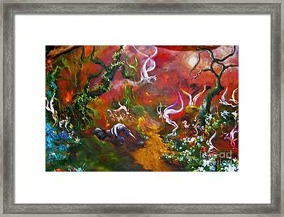 The Fairy Forest Framed Print by Michelle Dommer
