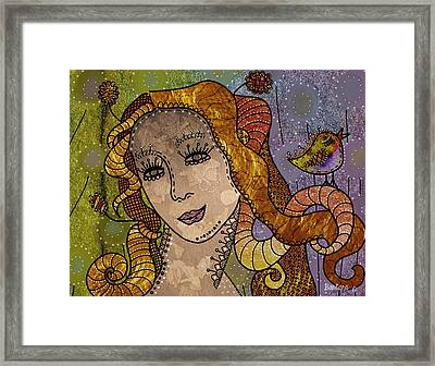 Framed Print featuring the digital art The Fairy Godmother by Barbara Orenya