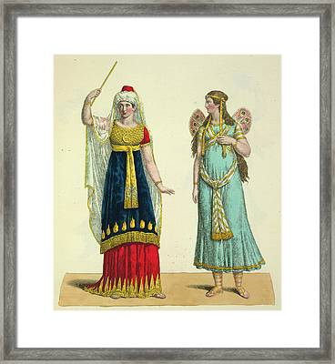 The Fairy Namuna And The Genie Framed Print by British Library