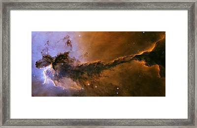 The Fairy Of Eagle Nebula Framed Print by Space Art Pictures