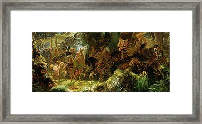 The Fairy Raid Framed Print by Sir Joseph Noel Paton