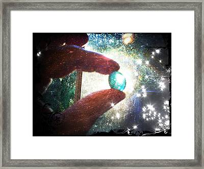The Fairy Stone - Nature Angel  Framed Print by Absinthe Art By Michelle LeAnn Scott