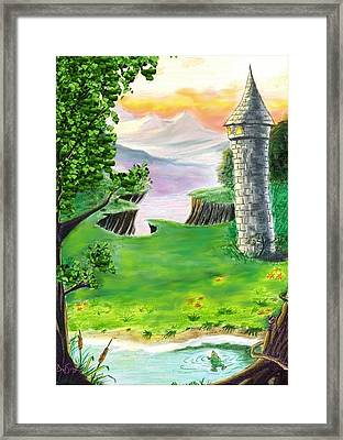 The Fairy Tale Tower Framed Print by Brad Simpson