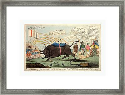 The Faith Of Treaties Exemplified Or John Bulls Last Effort Framed Print by Litz Collection