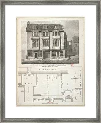 The Falcon Tavern Framed Print by British Library