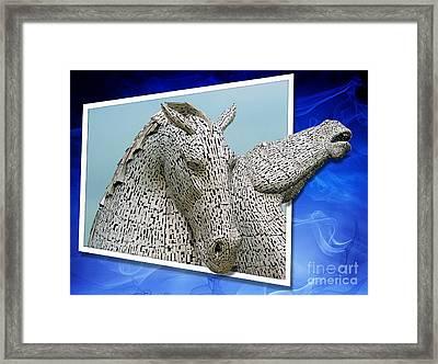 The Falkirk Kelpies  Framed Print by Mike Marsden