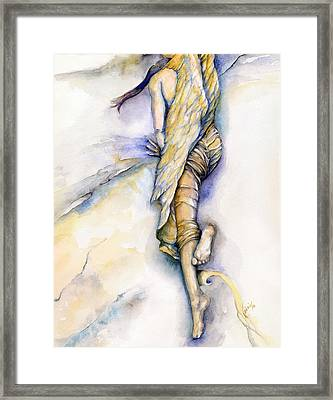 The Fall Framed Print by Nadine Dennis