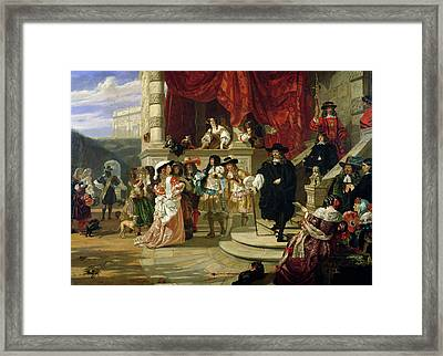 The Fall Of Edward Hyde , 1st Earl Framed Print by Edward Matthew Ward