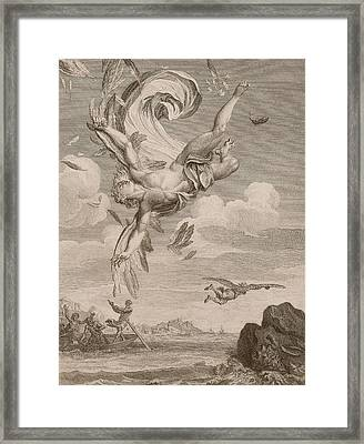 The Fall Of Icarus, 1731 Framed Print by Bernard Picart