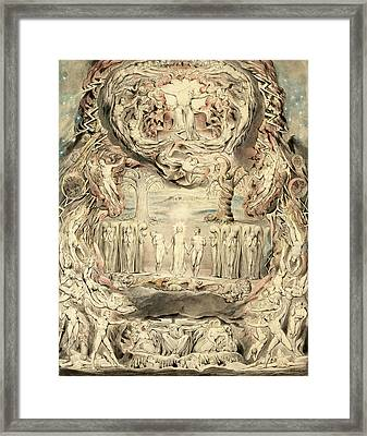 The Fall Of Man Framed Print by William Blake