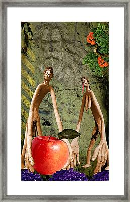 The Fall Of Mankind Framed Print by Harald Fischer