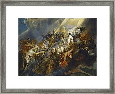 The Fall Of Phaeton Framed Print by  Peter Paul Rubens