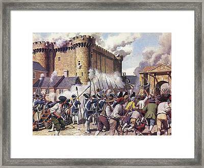 The Fall Of The Bastille Colour Litho Framed Print by Mike White