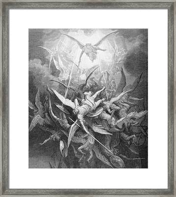 The Fall Of The Rebel Angels Framed Print by Gustave Dore