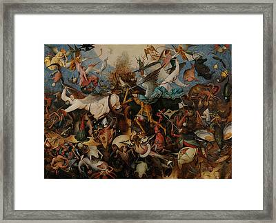 The Fall Of The Rebel Angels Framed Print by Pieter Bruegel the Elder