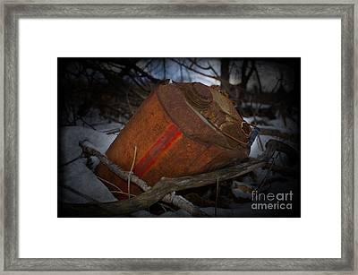 The Fall Of The Tin Man Framed Print by The Stone Age