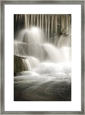 The Falls 2 Framed Print by Cindy Rubin