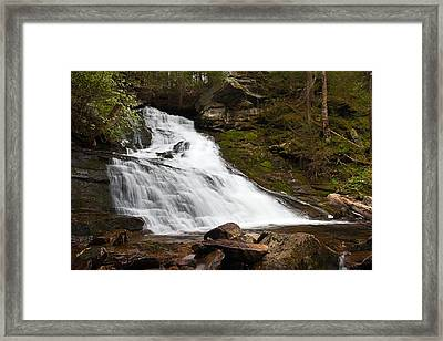 The Falls At Deans Ravine Framed Print by Mike Farslow