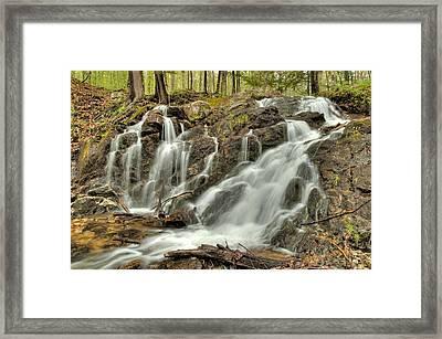 The Falls At Mackenzie King Estate Framed Print