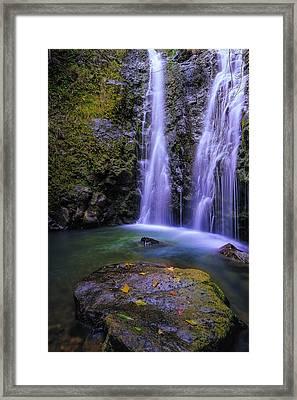 The Falls At Makamakaole Framed Print