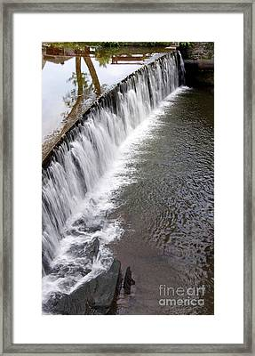 The Falls At New Hope Framed Print
