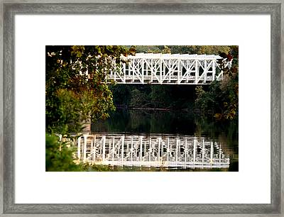 Framed Print featuring the photograph The Falls Bridge by Christopher Woods