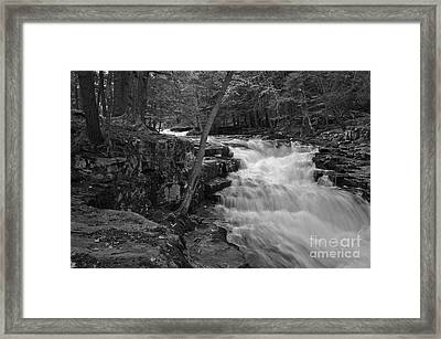 The Falls Framed Print by David Rucker