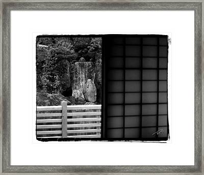 The Falls From Within Framed Print by Tom Buchanan