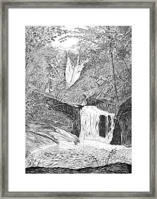 The Falls II Framed Print by Carl Genovese