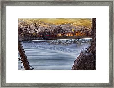 The Falls Of White River Framed Print