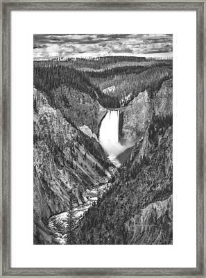 The Falls Power Framed Print by Jon Glaser