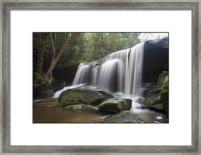 The Falls Framed Print by Steve Caldwell