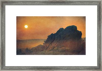 The False Lovers' Rock At Sunset Framed Print by Loriental Photography
