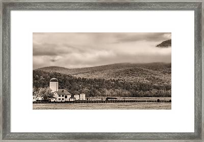 The Family Farm Bw Framed Print by JC Findley