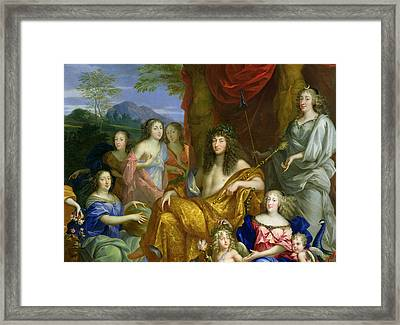 The Family Of Louis Xiv 1638-1715 1670 Oil On Canvas Detail Of 60094 Framed Print by Jean Nocret