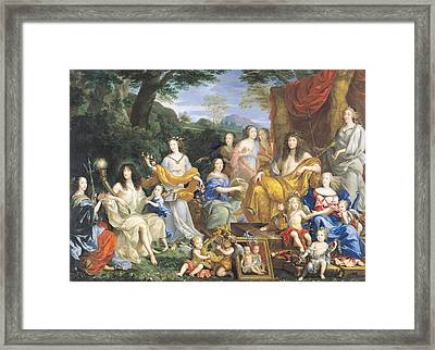 The Family Of Louis Xiv 1638-1715 1670 Oil On Canvas For Details See 39054-39055 Framed Print by Jean Nocret