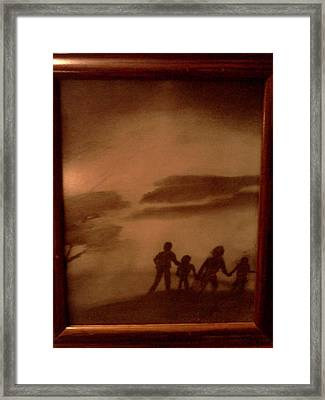 The Family  Walk Framed Print by Renee McKnight