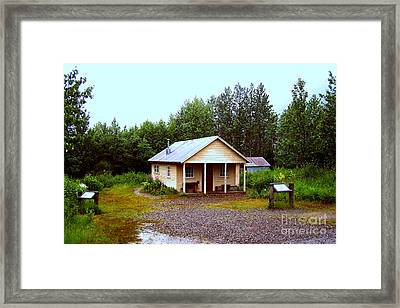 The Famous Cabin Of Fannie Quigley Framed Print by Kathy  White