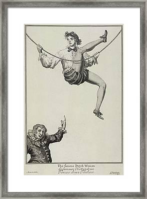 The Famous Dutch Woman Framed Print