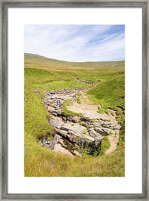 The Famous Gaping Gill Cave Framed Print