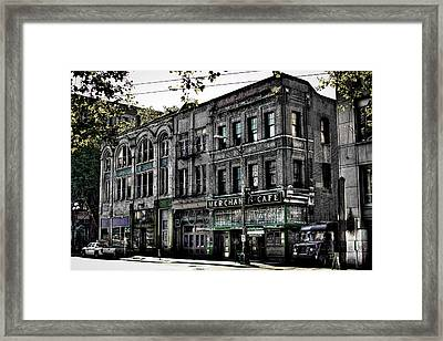 The Famous Merchant Cafe - Seattle Washington Framed Print by David Patterson