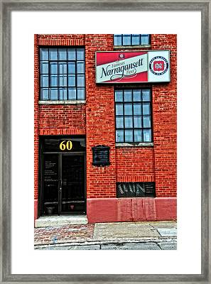 The Famous Narragansett Beer Framed Print